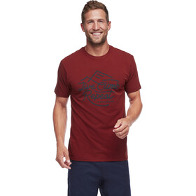 Black Diamond Live Climb Repeat T-shirt Heren, red oxide